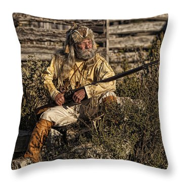 Mountain Man Throw Pillow