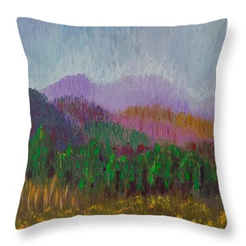 Mountain Meadow Throw Pillow by Margaret Bobb
