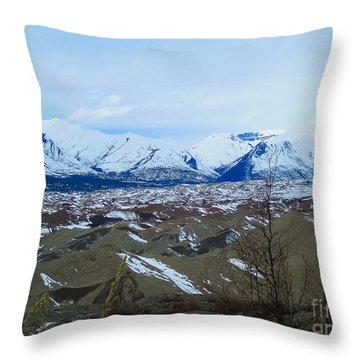 Mountain Meringue Throw Pillow