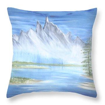 Mountain Mist 2 Throw Pillow