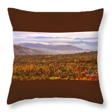 Mountain Mornin' In Autumn Throw Pillow