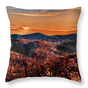 Throw Pillow featuring the photograph Mountain Of  Joy by B Wayne Mullins