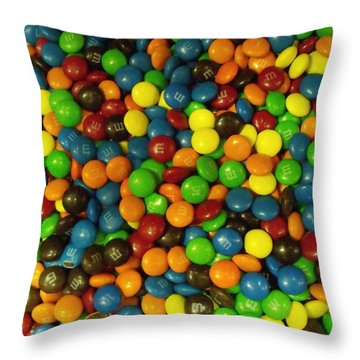 Mountain Of M And M's Throw Pillow by Anna Villarreal Garbis