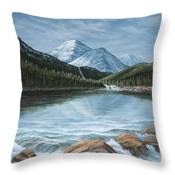 Mountain Paradise Throw Pillow