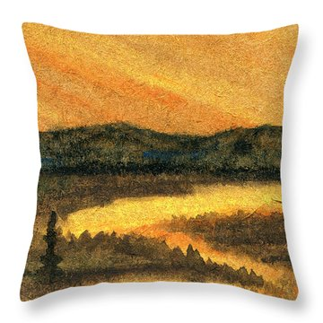 Mountain Park Throw Pillow by R Kyllo