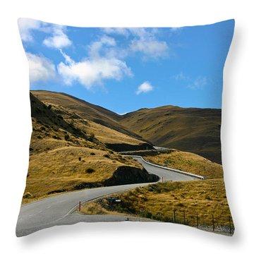 Mountain Pass Road Throw Pillow