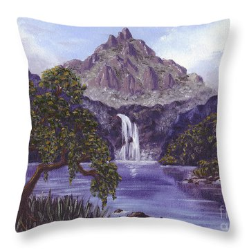 Mountain Peak Throw Pillow