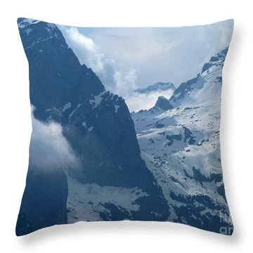 Throw Pillow featuring the photograph Mountain Peaks - Italy by Phil Banks