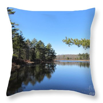 Mountain Pond - Pocono Mountains Throw Pillow