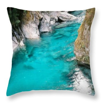 Throw Pillow featuring the painting Mountain Pool by Bruce Nutting