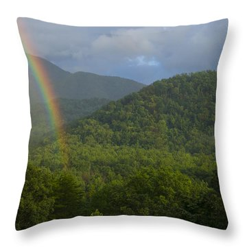 Mountain Rainbow 2 Throw Pillow