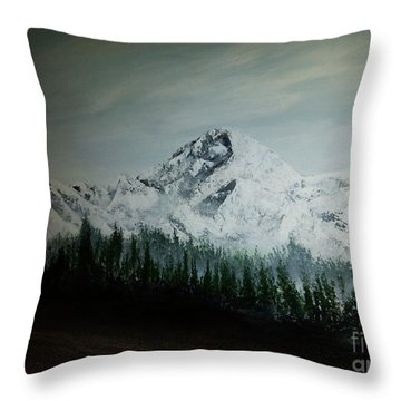 Mountain Range Throw Pillow by Pheonix Creations