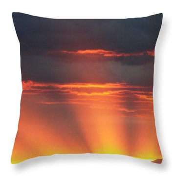Mountain Rays Throw Pillow
