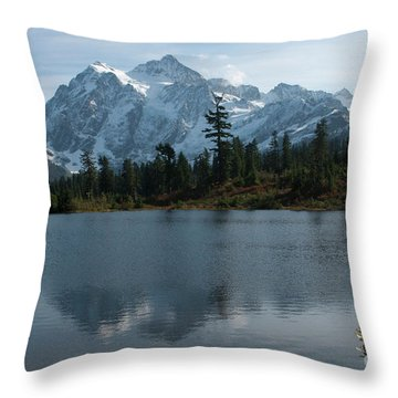 Throw Pillow featuring the photograph Mountain Reflection by Rod Wiens
