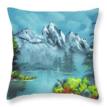 Mountain Retreat Throw Pillow