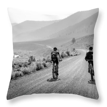 Mountain Riders Throw Pillow