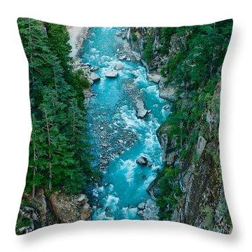Mountain River Ganga In Valley Himalayas India Throw Pillow