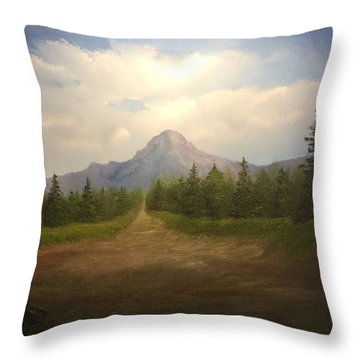Mountain Run Road  Throw Pillow
