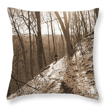 Mountain Side Throw Pillow by Melinda Fawver