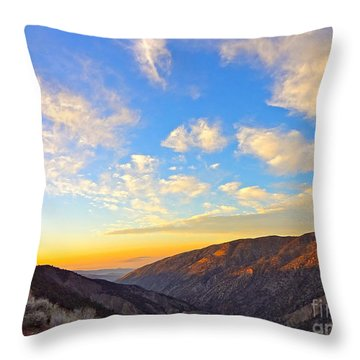Mountain Soup Throw Pillow