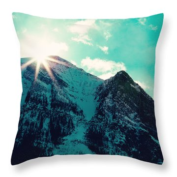 Throw Pillow featuring the photograph Mountain Starburst by Kim Fearheiley