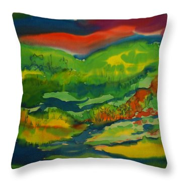 Mountain Streams Throw Pillow