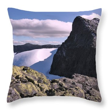 Mountain Summit Ridge Throw Pillow