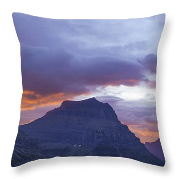 Sunrise Over Going To The Sun Mountain Throw Pillow
