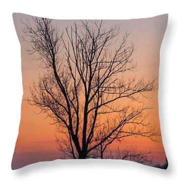 Mountain Sunset 2 Throw Pillow