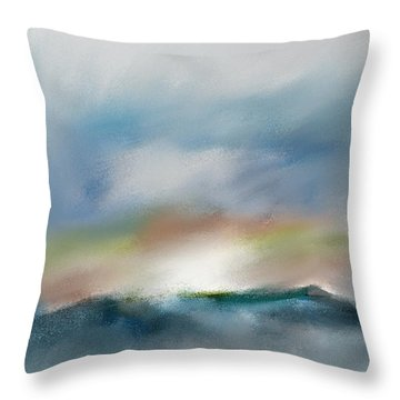 Mountain Sunset Throw Pillow by Frank Bright