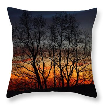 Throw Pillow featuring the photograph Mountain Sunset by Kathryn Meyer