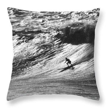 Mountain Surfer Throw Pillow by Sean Davey