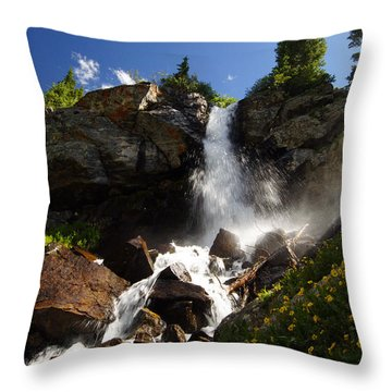 Mountain Tears Throw Pillow