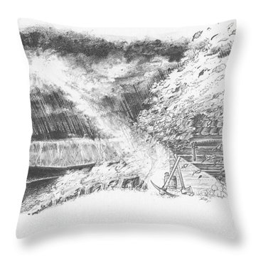 Mountain Top Throw Pillow
