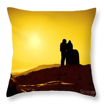 Throw Pillow featuring the photograph Mountain Top Sunset by Craig B