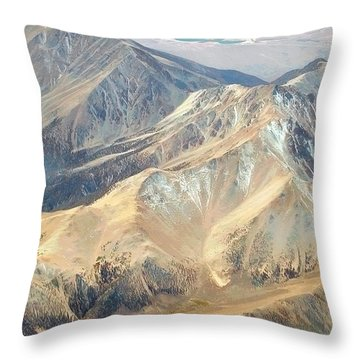 Throw Pillow featuring the photograph Mountain View 2 by Mark Greenberg
