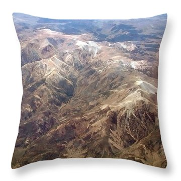 Throw Pillow featuring the photograph Mountain View by Mark Greenberg