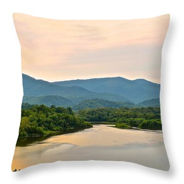 Mountain View Throw Pillow by Frozen in Time Fine Art Photography