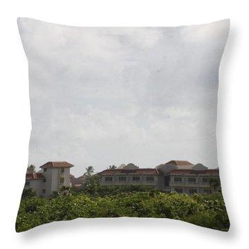 Mountain Villa Throw Pillow