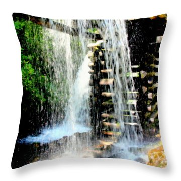 Mountain Waters Throw Pillow by Karen Wiles