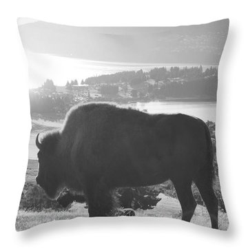 Mountain Wildlife Throw Pillow