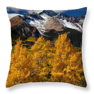 Mountainous Wonders Throw Pillow