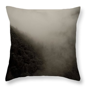 Mountains And Mist Throw Pillow by Shane Holsclaw