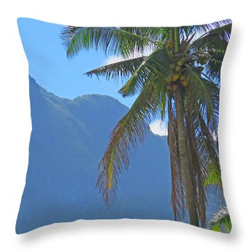 Mountains And Palms Throw Pillow