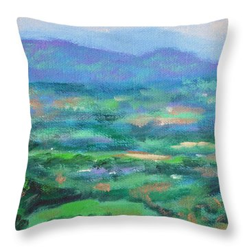 Mountains And Valleys- Summertime Along The Blue Ridge Parkway Throw Pillow