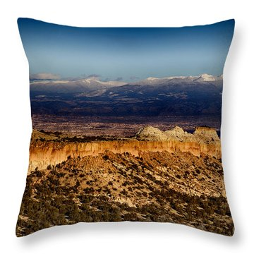 Mountains At Senator Clinton P. Anderson Scenic Route Overlook  Throw Pillow