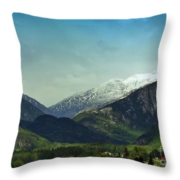 Mountains Beyond Skagway Throw Pillow