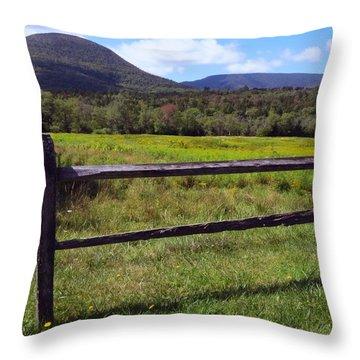 Mountains Beyond The Fence Throw Pillow