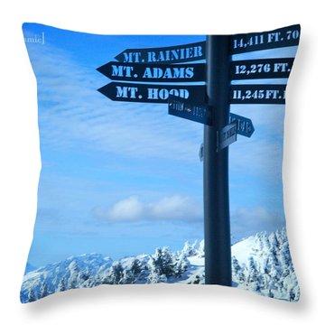 Mountains Everywhere Throw Pillow