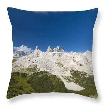 Mountains In The Alps Throw Pillow by Chevy Fleet